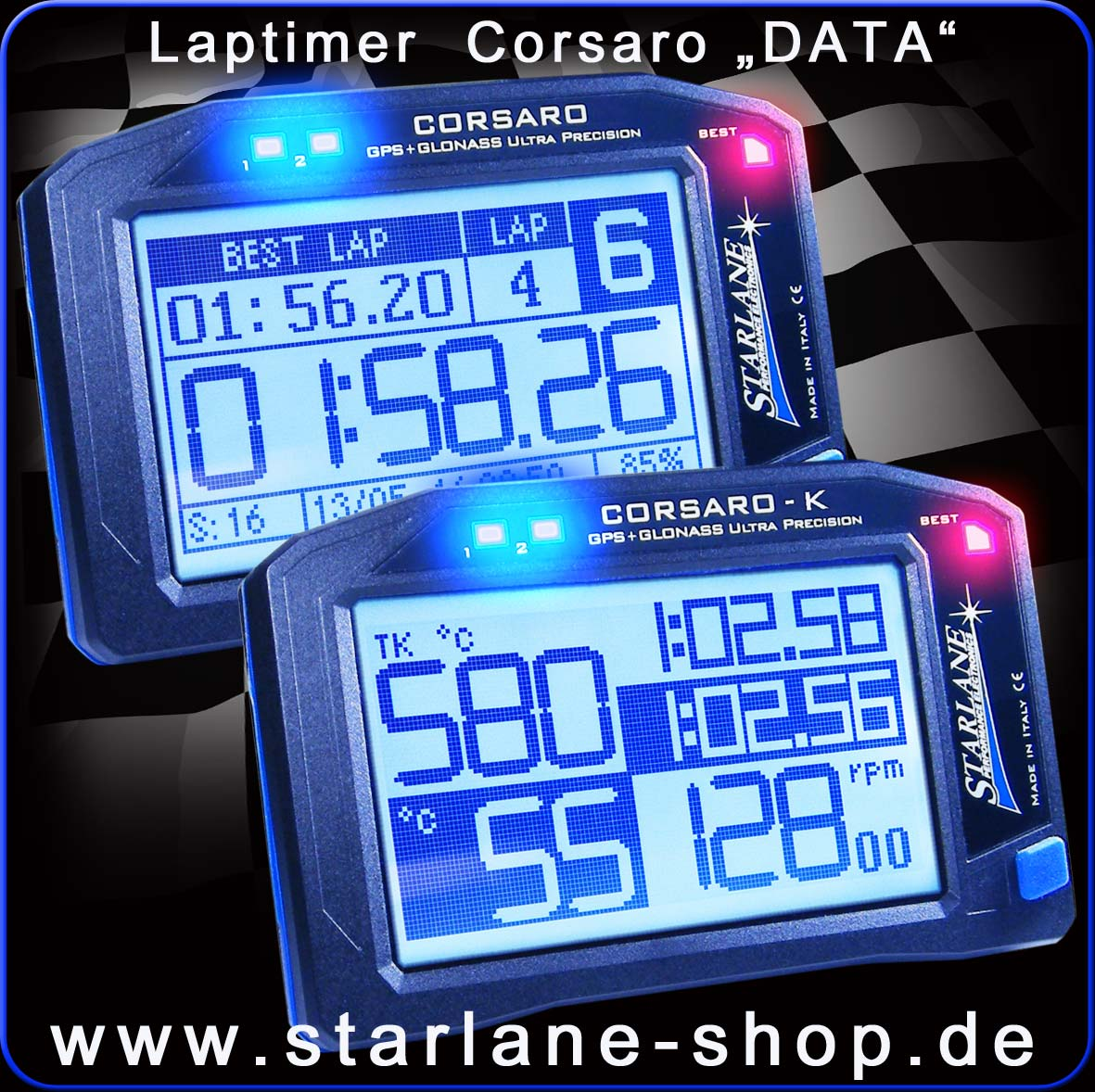 laptimer corsaro data für datarecording