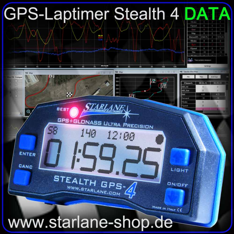 "GPS Laptimer STEALTH 4 ""DATA"""